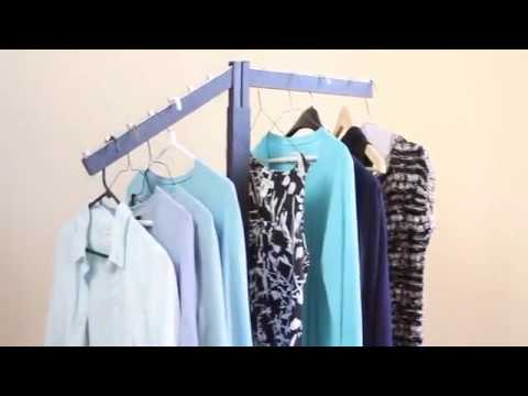 Two Way Rolling Clothing - Garment Display Racks