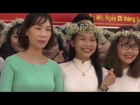 Trường THPT Minh Châu lớp 12A1 tri ân thầy cô
