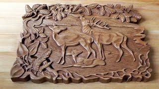 Резьба по дереву. Резное панно из дерева своими руками