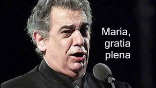 Plácido Domingo - Ave Maria - By: Schubert