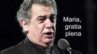 Plácido Domingo - Ave Maria - By: Schubert - Stafaband