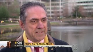 Jack Valero on CBS News clip on the Pope as peacemaker