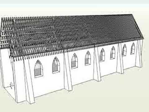 Sketchup 6 Pro Old Church Roof Design Animation