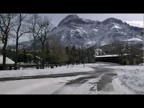 Driving Around Waterton Lakes National Park in Winter