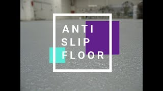 Anti Slip Epoxy Floor in a food factory - Case study on how to apply