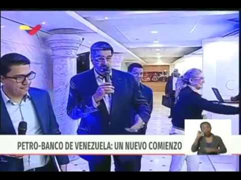 Presidente Maduro activa taquillas Petro en el Banco de Venezuela