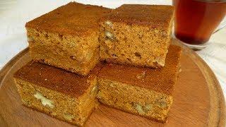 Карамельный пирог с орехами