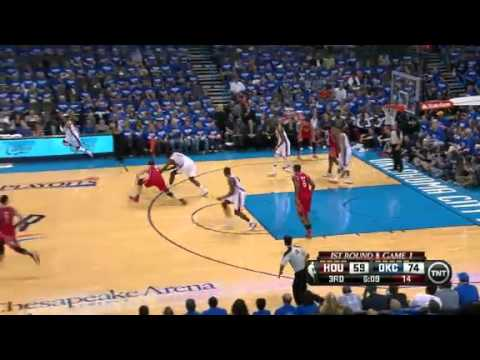 NBA Playoffs 2013: NBA Houston Rockets Vs Oklahoma City Thunder Highlights April 21, 2013 Game 1