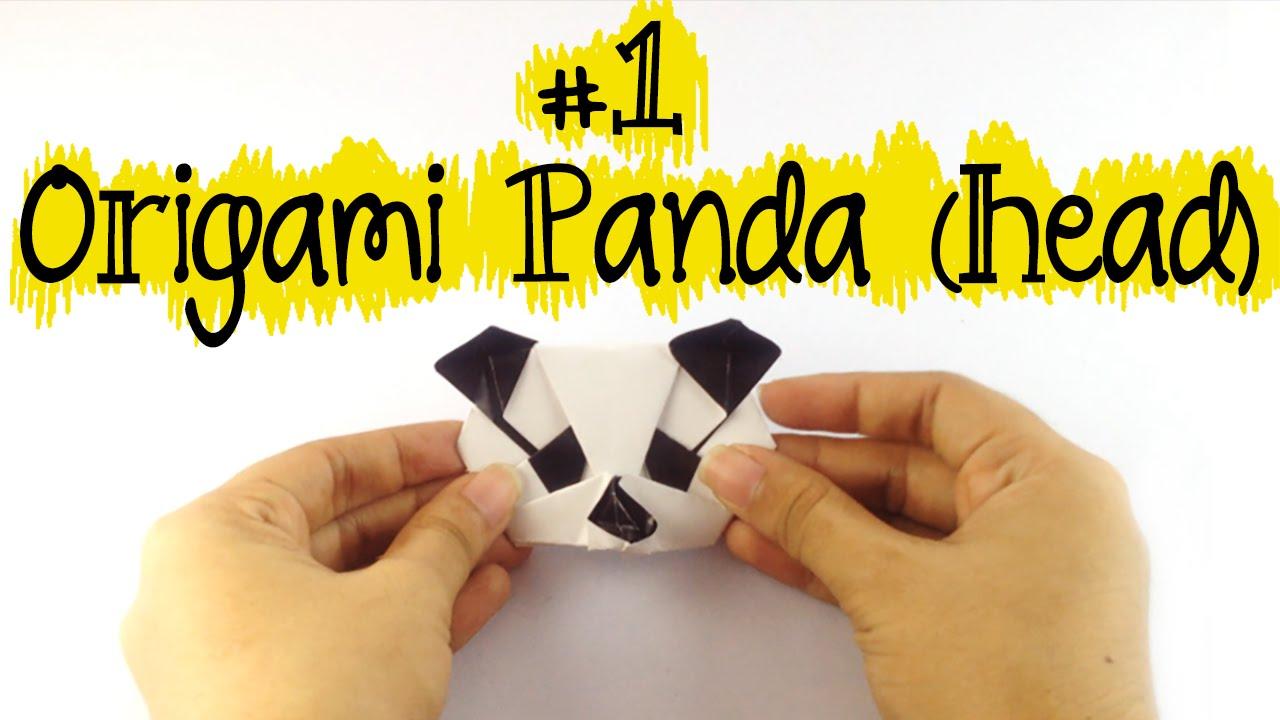 EASY DIY ORIGAMI PANDA 1 HEAD