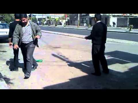 اطلاق النار من قبل الامن على متظاهرين في جوبر 26-4