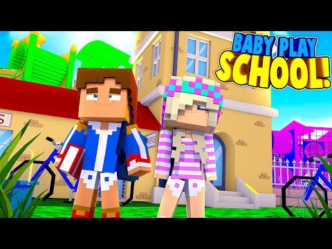 Minecraft PLAY SCHOOL    BABY LEAH & BABY DONNY'S FIRST DAY    (Minecraft Roleplay)