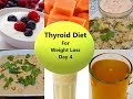 Hypothyroid Meal Plan Day 4 | Weight Loss Diet For Both Men & Women | Indian Weight Loss Diet