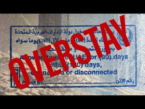 Overstayed My Visa in the UAE - I was an illegal Alien for 7 days!