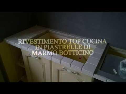 Rivestimento top cucina piastrelle di marmo - YouTube