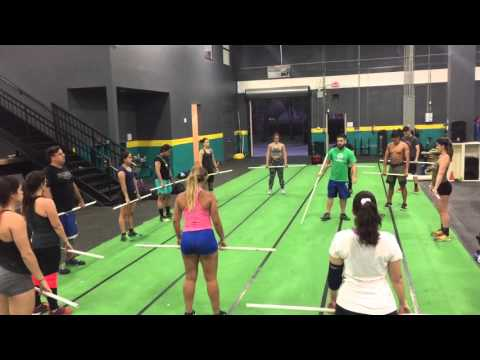 Power Clean demo with PVC pipe