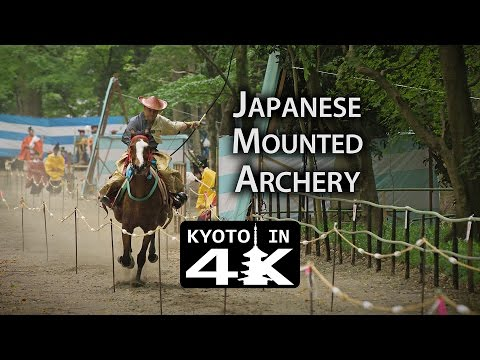 Kyoto Festival: Japanese Mounted Archery at Shimogamo Shrine (Yabusume Shinji) [4K]