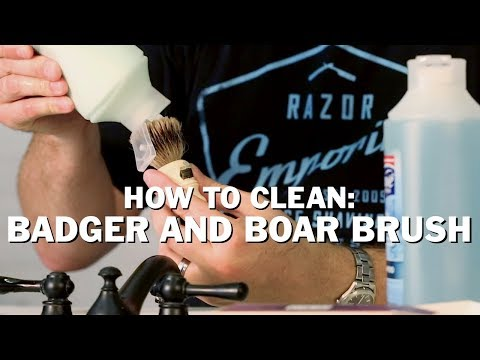 How to Clean your Wet Shave Badger or Boar Shaving Brush