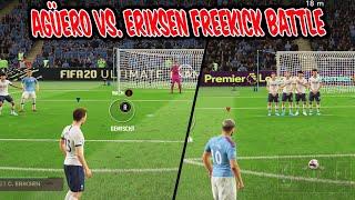 Sergio AGÜERO vs. ERIKSEN Freekick Challenge! Heftige Freistöße vs. Bruder! - Fifa 20 Ultimate Team