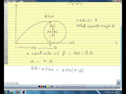 Calc II 10.2 pt 2 Parametric equations and cycloids