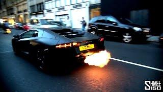 Lamborghini Aventador'un Yüksek Egzoz Sesi Kızları Korkutuyor !