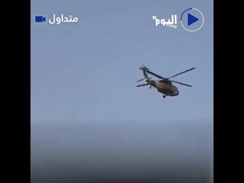 طائرة بلاك هوك أمريكية الصنع تحلق بها طالبان في سماء قندهار