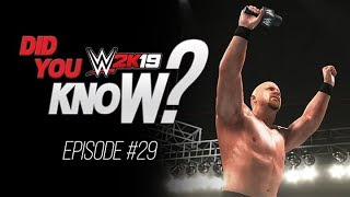 WWE 2K19 Did You Know? Hidden Options, Promo Entrance, Odd Glitches & More (Episode 29)