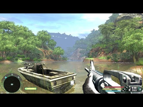 far-cry-1:-walkthrough---river-[level-16]-(realistic-mode)-4k-uhd---60fps-max-settings