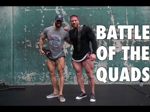 Justin Lovato & Julian Smith train Legs! (Battle of the Quads)