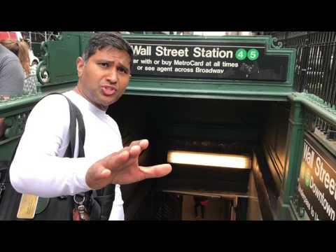 Wall Street New York City metro