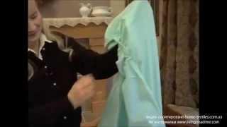 Как сложить простынь на резинке(Из видео-урока