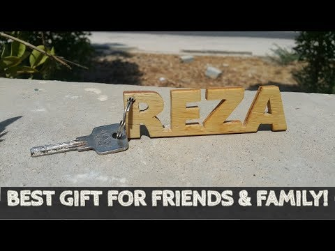 How to Make Wooden Name Keychains(DIY)
