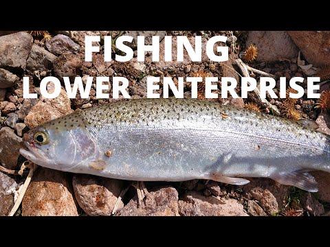 Fishing Lower Enterprise Reservoir, Early Spring, Enterprise, Utah