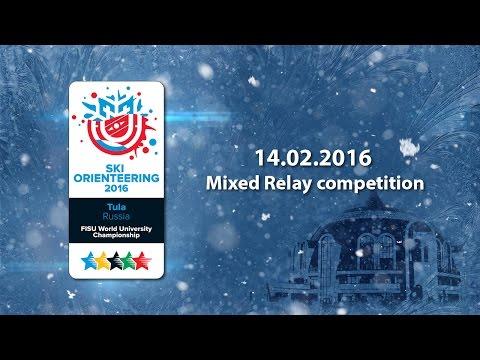 FISU World University Championship. SKI Orienteering 2016. Mixed relay competition.