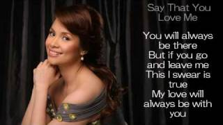 Watch Lea Salonga Say That You Love Me video