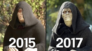 Emperor Palpatine Battlefront 1 (2015) vs Battlefront II (2017) Graphics Comparison