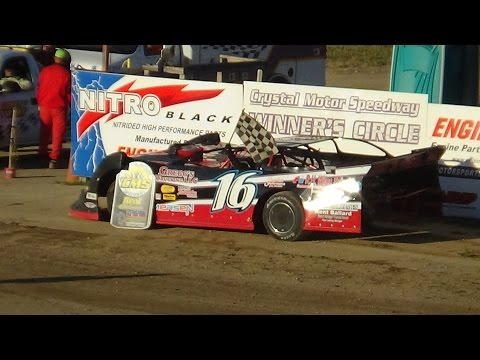Late Model Heat Race #2 at Crystal Motor Speedway, Michigan on 07-09-16.