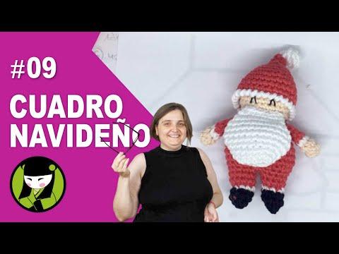 Papa NOEL pequeñito a crochet 9 forma parte del CUADRO AMIGURUMI NAVIDEÑO