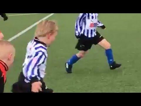 Liverpool hero Dirk Kuyt's son scores wondergoal