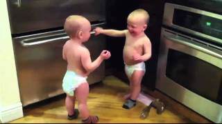 Talking Twin Babies Babble About Friday - Rebecca Black (Subtitles/Translation)