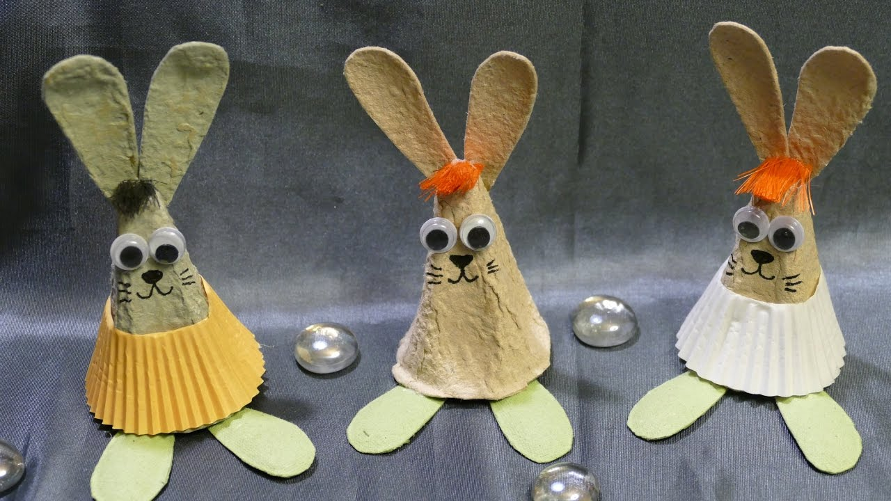 osterhasen hasen basteln tinker easter bunnies einfach youtube. Black Bedroom Furniture Sets. Home Design Ideas
