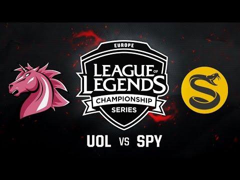 UOL vs. SPY - Week 9 Game 1 | EU LCS Summer Split | Unicorns of Love vs. Splyce (2017)