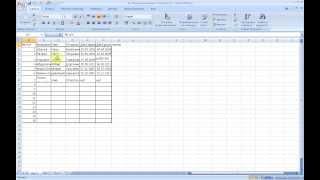 Excel 2007.Изменение размера ячеек, Добавление и удаление столбцов и строк.