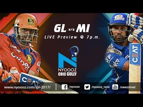 IPL T20: The Gujarat Lions vs Mumbai Indians cricket match preview on Cric Gully | Live | IPL 2017 |