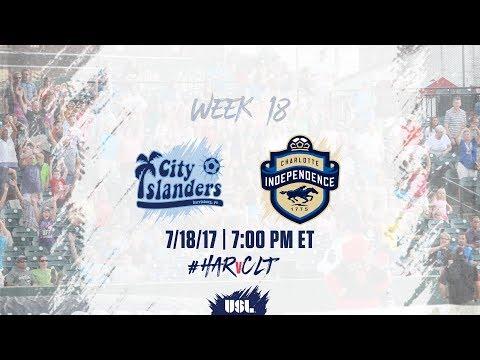USL LIVE - Harrisburg City Islanders vs Charlotte Independence 7/18/17