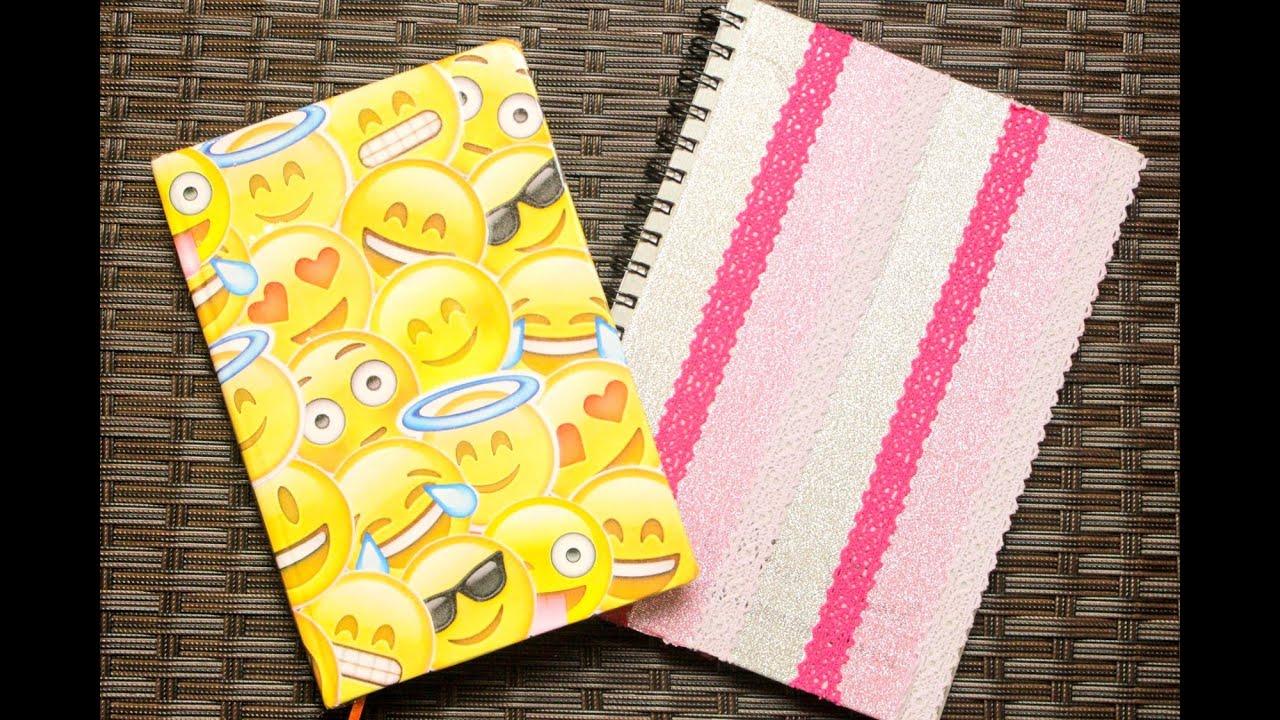 Arte Minha Artesanato São Carlos ~ DIY Volta as aulas Customize seus Cadernos Customizaç u00e3o de Cadernos YouTube
