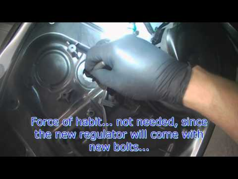 VW A5: EOS Driver side power window regulator removal