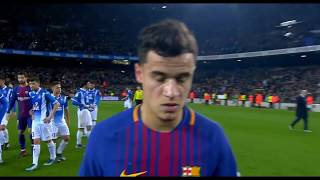Coutinho Debut Vs Espanyol (Copa Del Rey) - English Commentary (1080P)