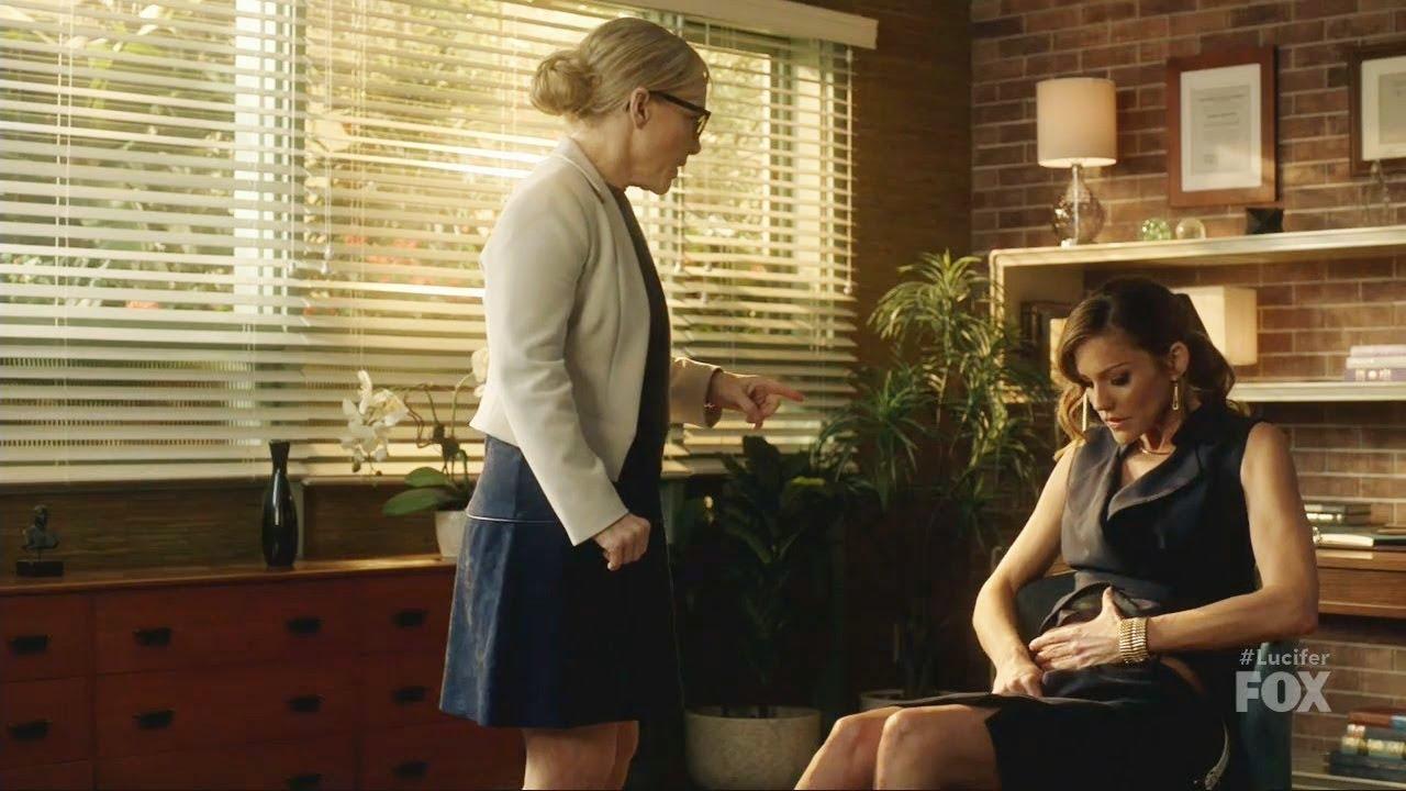 Download Lucifer 2x18 Charlotte  Dr Linda Lucifer  Duct Tape & her Wound Season 2 Episode 18 Season  Finale