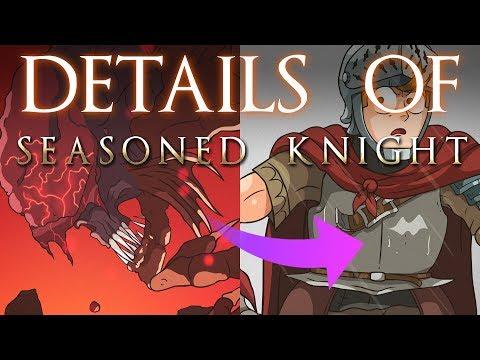 "Details of DORK SOULS 3 ""Seasoned Knight"""