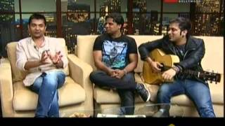 Ashish Patil, Kumaar & Sachin Gupta With Komal Nahta